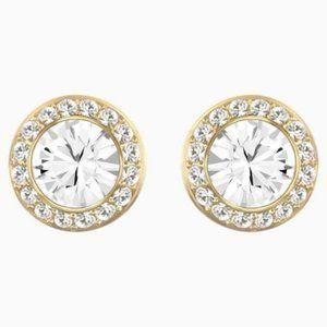 Swarovski angelic stud pierced earrings, white